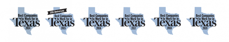 Voted best company to work for in Texas 6 years in a row